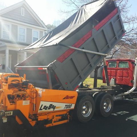 DW Castleberry Asphalt Paving Contractor Vehicle Image