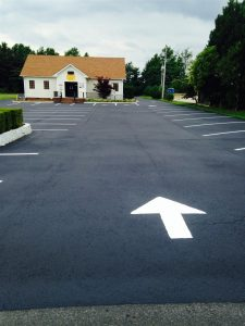 Asphalt Line Striping Arrow