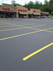 Charlotte Business Asphalt Parking Lot